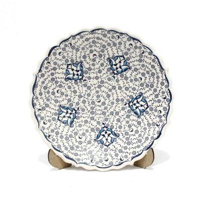 18 cm Haliç Desen Çini Seramik Tabak 823