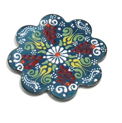 10 cm Dantel Desenli Çini Seramik Nihale 3203